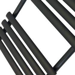 Queen Black Designer Towel Rail - 500 x 930mm - Closeup