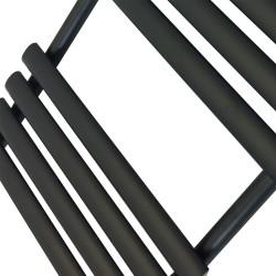Queen Black Designer Towel Rail - 500 x 1200mm - Closeup