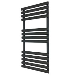 Queen Black Designer Towel Rail - 500 x 1200mm