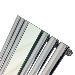 Queen Chrome Mirror Radiator - 499 x 1800mm