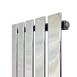 King Chrome Designer Radiator - 360 x 1250mm - Closeup