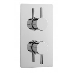 Quest Rectangular Concealed Shower Valve Dual Handle