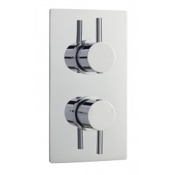 Quest Rectangular Concealed Shower Valve with Diverter Dual Handle