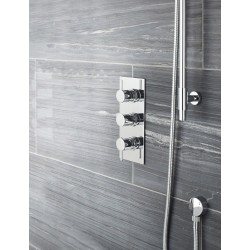 Quest Rectangular Concealed Shower Valve Triple Handle