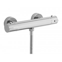 Minimalist Thermostatic Bar Shower Valve Bottom Outlet