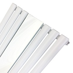 Queen White Mirror Radiator - 499 x 1800mm - Closeup