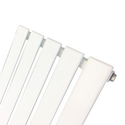 King White Designer Radiator - 360 x 1250mm - Closeup