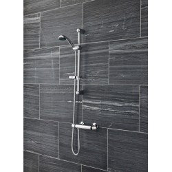 Dune Thermostatic Bar Shower With Slide Rail kit