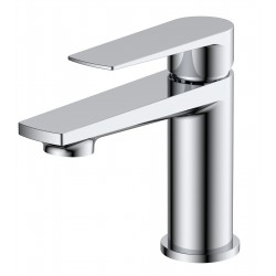 Bailey Mini Mono Basin Mixer Tap with Push Button Waste Single Handle