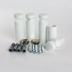 Universal White Brackets for Heated Towel Rails