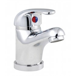Eon D-Type Mono Basin Mixer Tap with Push Button Waste Single Handle