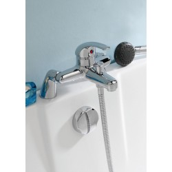 Eon Single Lever Bath Shower Mixer Tap Deck Mounted