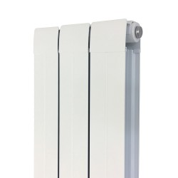 Princess White Aluminium Radiator - 245 x 1800mm - Closeup