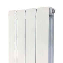 Princess White Aluminium Radiator - 318 x 1800mm - Closeup