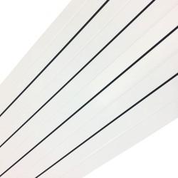 Princess White Aluminium Radiator - 405 x 1800mm - Closeup
