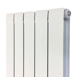 Princess White Aluminium Radiator - 405 x 1800mm