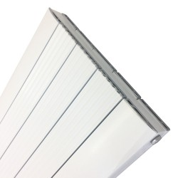 Supreme White Aluminium Radiator - 470 x 1800mm Double - Closeup
