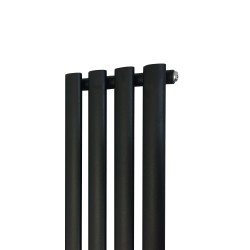 Queen Black Designer Radiator - 280 x 1800mm - Closeup