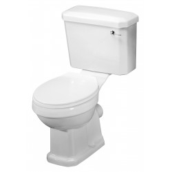 Carlton Close Coupled Toilet Pan with Cistern and Standard Toilet Seat