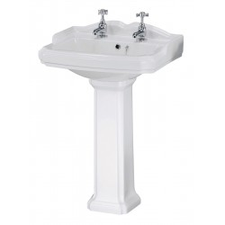 Legend 580mm 2 Tap Hole Basin & Pedestal